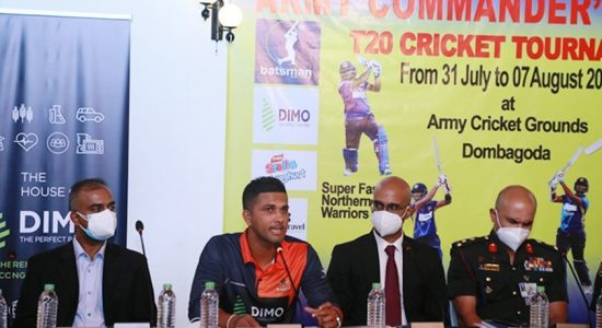 Army Commander's League T20 Cricket Tournament on Saturday (31)