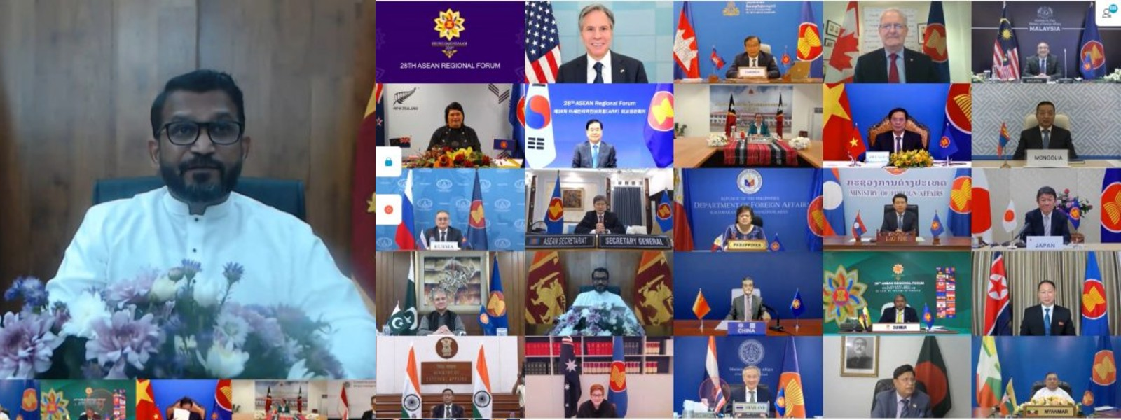 Sri Lanka's commitment for enhanced cooperation stressed at the 28th ASEAN Regional Forum (ARF)