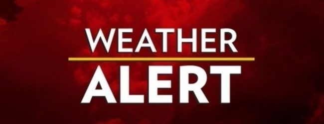 Alert issued for fairly heavy showers