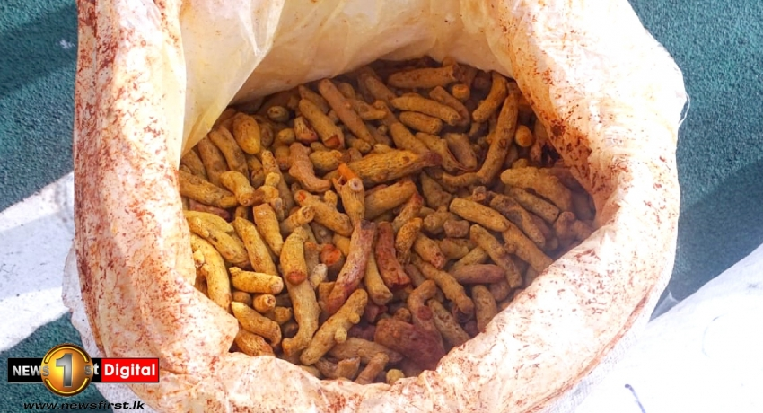 5,300 Kg of dried turmeric seized from Indian boat that illegally entered Sri Lankan waters