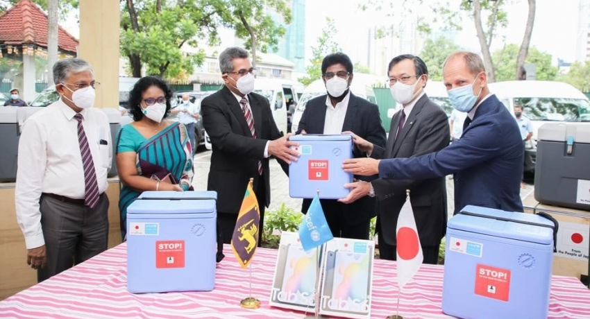 Japan expresses solidarity with Sri Lanka against COVID-19; provides Cold Chain Equipment