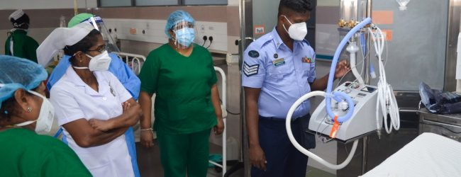Air Force donates Humidified Oxygen Therapy Unit to Kalutara Hospital