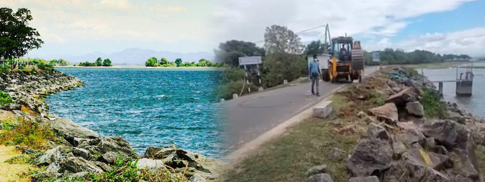 Parakrama Samudra Jogging Track Project, suspended