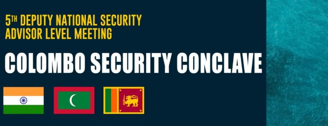 Colombo Security Conclave beings on Wednesday (04)