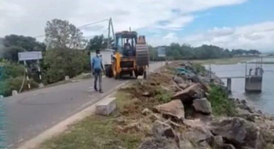Historic 'Parakrama Samudra' Bund dug up for Jogging Track?