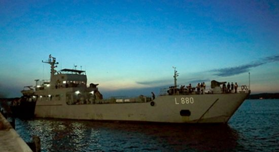 SLNS Shakthi leaves for India to return with shipment of medical oxygen