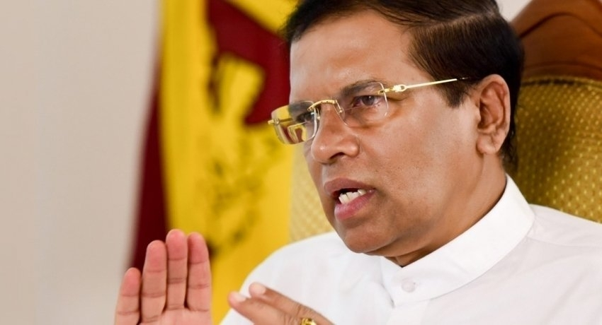 Call for an all-party meeting to discuss present situation, Sirisena tells President
