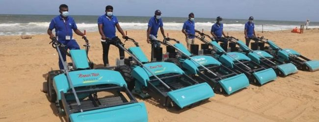 Sri Lanka receives state-of-the-art Beach Cleanup machines to remove X-Press Pearl plastic waste