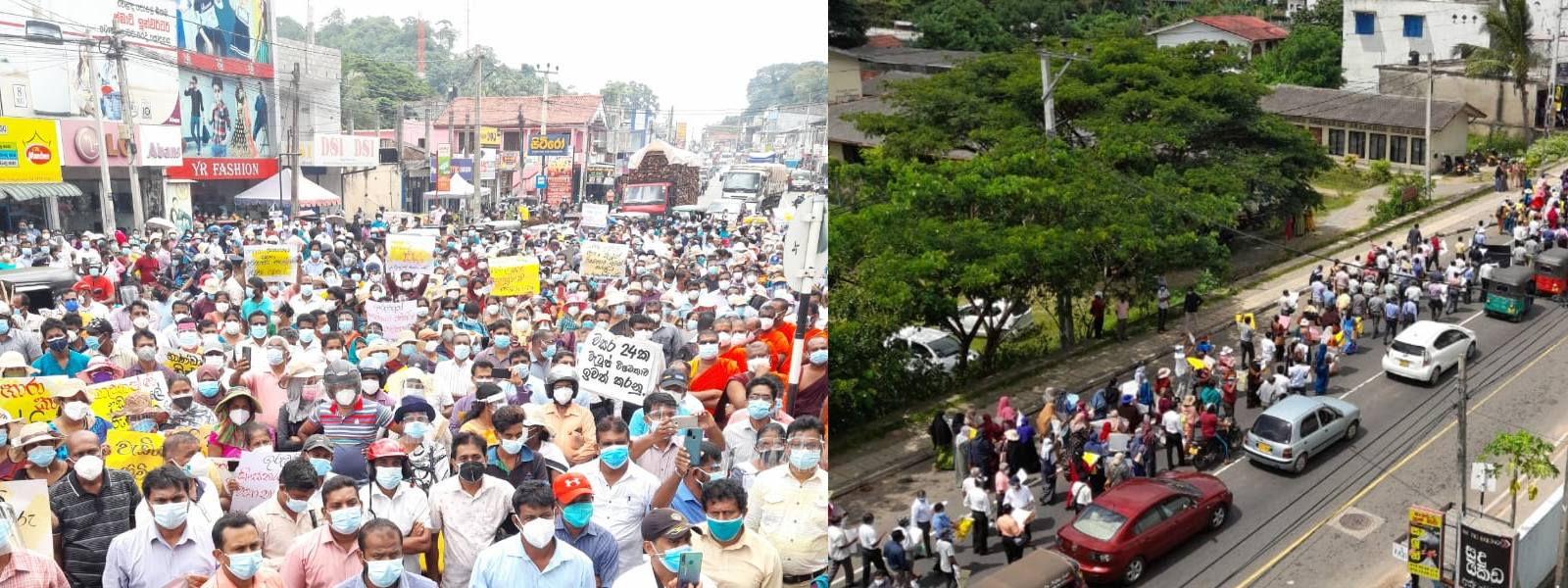 Multiple protests against the arrest of Teachers & Principals