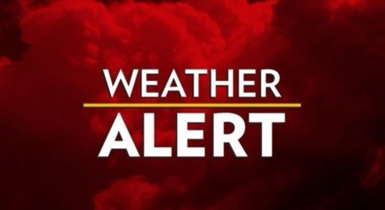 Amber alert issued for heavy showers above 100mm