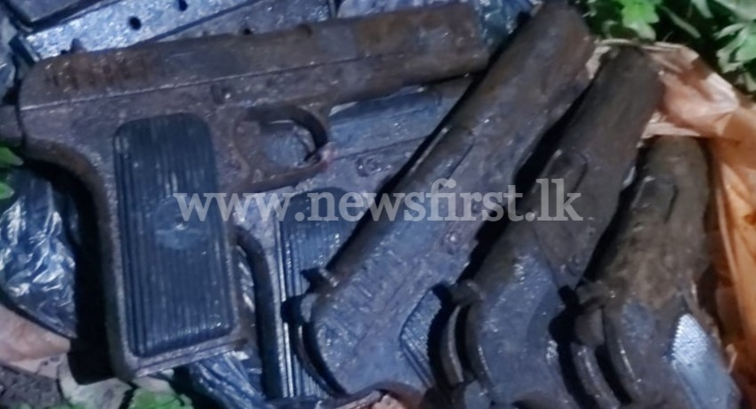 Weapons caches discovered from Weligama