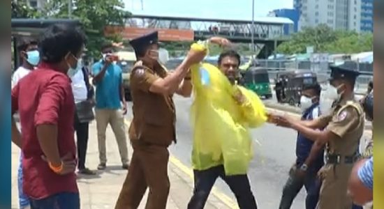 Protest turns into heated confrontation with Police; Two Traders Arrested