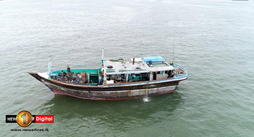 Foreign fishing vessel carrying heroin worth over Rs. 3 Billion intercepted by Navy