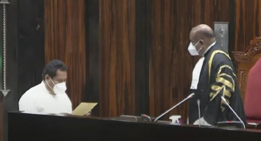 Jayantha Ketagoda takes oath as MP, again