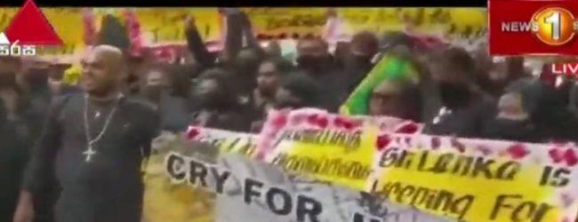 Lankans protest in New York