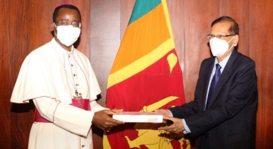 Apostolic Nuncio discusses Easter Attacks with Foreign Minister