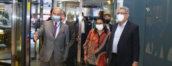 President arrives in New York for 76th session of United Nations
