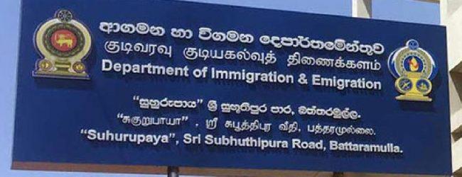Immigration & Emigration Dept. open for limited services
