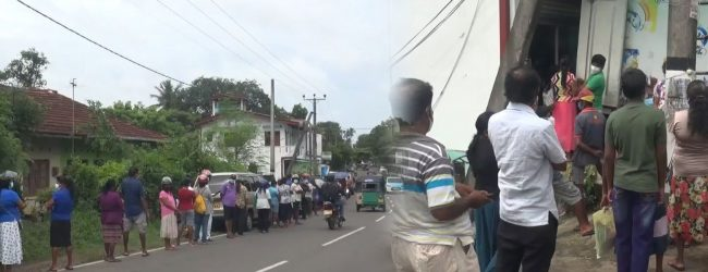 Long queues to buy essential goods following rumors of price hike