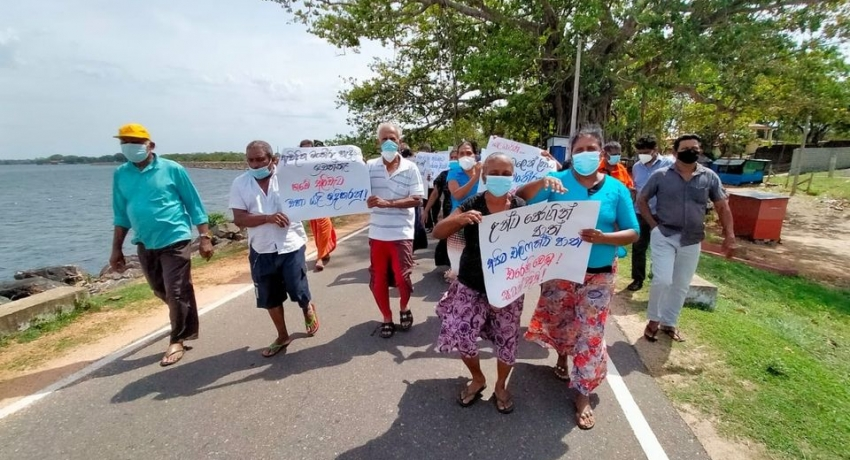 Electric fence removed for Parakrama Samudra Jogging Track; Locals want it back