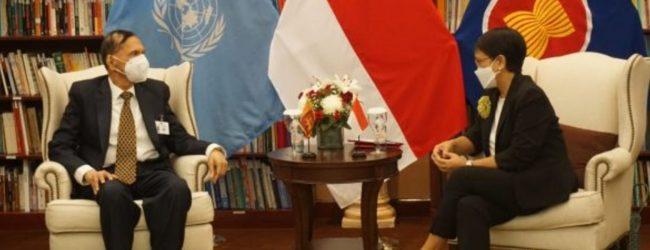 Sri Lanka & Indonesia discuss Indian Ocean Security