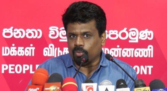 """Govt always took the side of the Mafia"", says JVP."