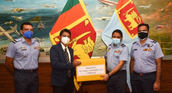 Sri Lanka Air Force gets more equipment for HHOT production