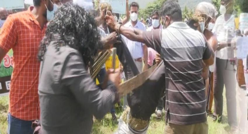 Sri Lanka farmers continue protest over fertilizer shortage – #FarmerProtestSL