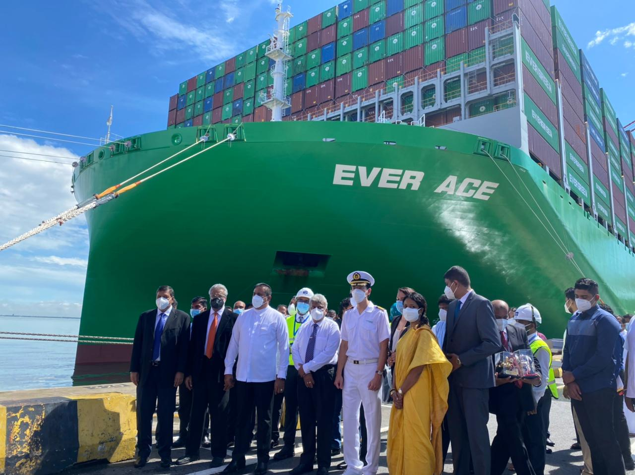 World's biggest container ship calls at Colombo Port