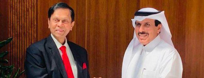 Cabraal meets Qatar Central Bank Chief Sheikh Abdulla Bin Saoud Al-Thani