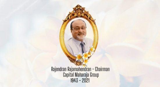 Mr. Rajamahendran, one of the admired leaders in Sri Lanka