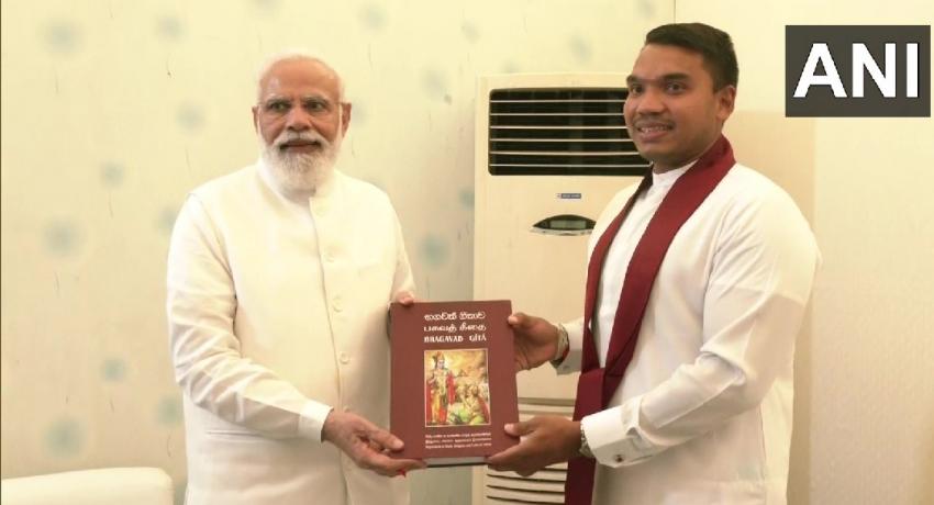 Namal meets with Indian PM Modi