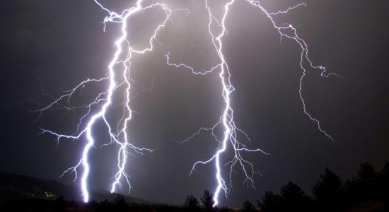 Amber Advisory for severe lightning issued