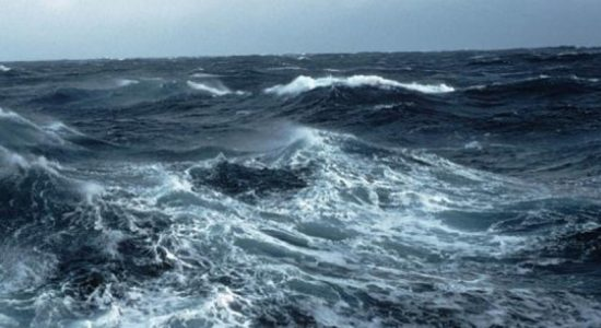 Amber alert issued for strong winds & rough seas