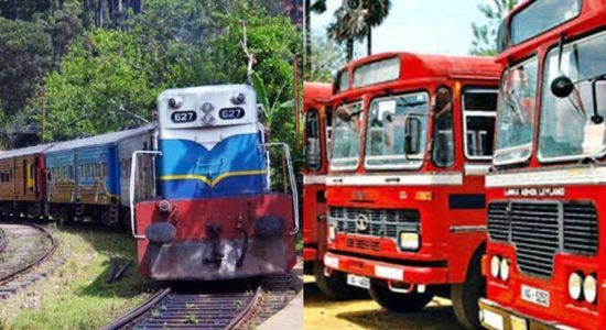 Buses and Trains ready to move immediately