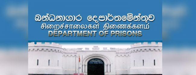 Prisons Department resume inmate visits