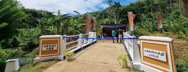 Hidden village in Badulla gets a #Gammadda 'Unity Bridge'