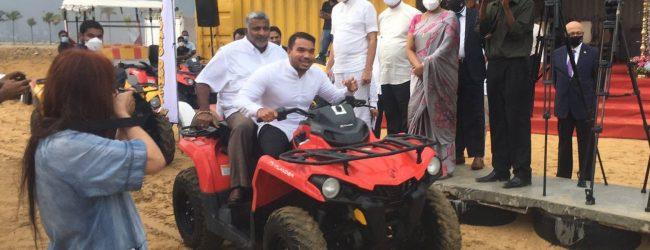 (VIDEO) ATV rides launched at Port City, Namal & Prasanna on a test drive