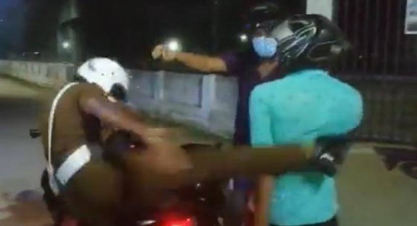 Eravur Police Assault : Cop interdicted & arrested