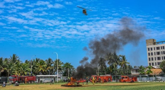 (PICTURES) Air Force conducts crash emergency response drill