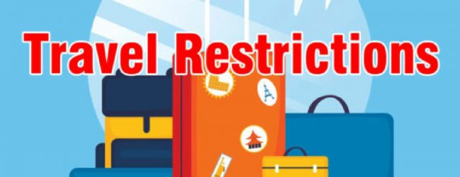 Inter-Province Travel Restrictions Extended to 31st October