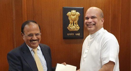 High Commissioner Moragoda calls on Indian National Security Advisor