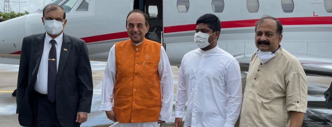 BJP's Subramanian Swamy in Sri Lanka for talks & Navratri festival