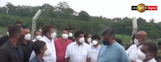 Sajith inspects site for proposed Bird Sanctuary in Madiwela
