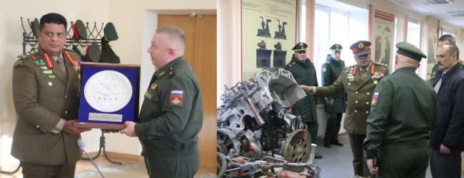Army Chief at Moscow Higher Combined Arms Command School