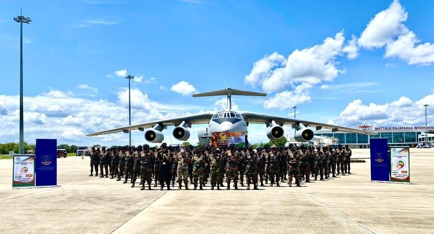 Indian Military contingent in Sri Lanka for Mitra Shakti