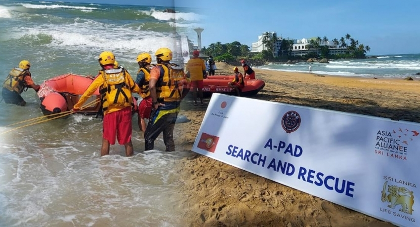 SL Swift Water Rescuers in surf drill at Mount