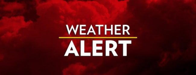 Amber alert issued for strong winds and rough seas