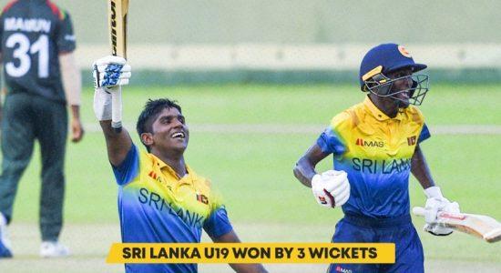 Under 19 Cricket: Sri Lanka beat Bangladesh by 3 wickets in 3rd ODI; Leads 5-match series 3 – 0