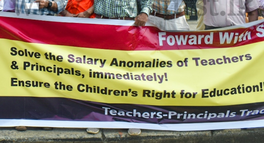 Teachers & Principals protest across the Island, demanding solutions to issues